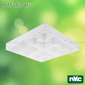 NTFLED41* - Bộ máng phản quang xương cá ẩn bóng chống chói, góc chiếu 90°, khung nhôm tổng hợp, sơn tĩnh điện chống gỉ, lắp âm hoặc nổi