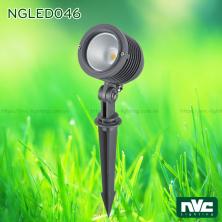 NGLED046 10W - Đèn LED cắm cỏ chip Cree IP54, góc chiếu sáng 45°, CRI 80, thân nhôm đúc cao cấp phủ sơn tĩnh điện chống ăn mòn, vân chống chói, mặt kính cường lực chịu nhiệt, cao 0.26m