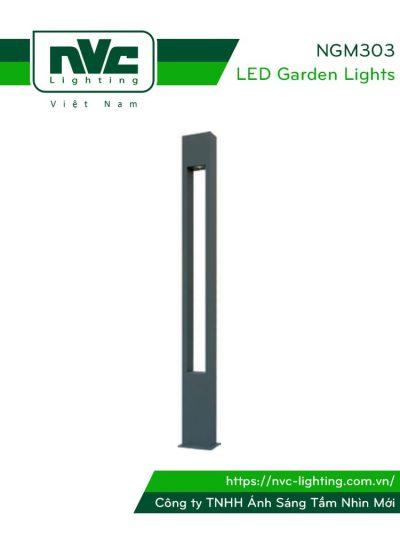 NG303 NGM303 IP55 - Đèn cột sân vườn chiếu cây cao 3m, dùng bóng metal chân cắm/đui gài 70W/150W, thân hợp kim nhôm đúc cao cấp phủ sơn tĩnh điện chống ăn mòn, ánh sáng phát ra từ đỉnh đèn với độ phản xạ cao