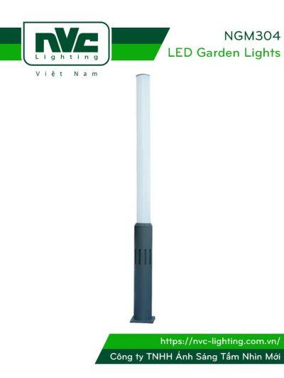 NG304 NGM304 dùng bóng metal G12 HQI-T70W/150W - Đèn cột sân vườn cao 3.2m, IP55, thân bằng hợp kim nhôm đúc cao cấp phủ sơn tĩnh điện chống ăn mòn, khuếch tán PMMA độ bền cao, có khả năng chống tia cực tím, chống chói