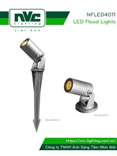NFLED4011 3.5W - Đèn LED cắm cỏ chip Osram IP65, góc chiếu 30°, CRI 80, thân nhôm đúc cao cấp phủ sơn tĩnh điện, mắt LED chống chói, mặt kính chịu lực chịu nhiệt 3mm, cao 85mm