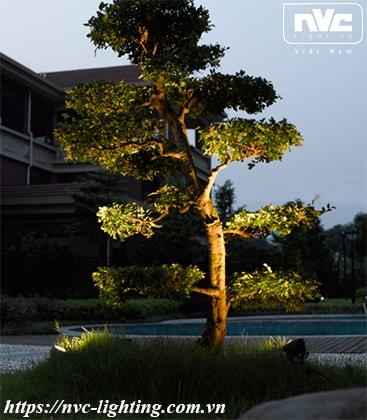 NFLED5001 - Đèn LED cắm cỏ 8W chip CREE IP65, góc chiếu 25°, CRI > 80, thân nhôm đúc phủ sơn tĩnh điện chống ăn mòn, mắt LED chống chói, mặt kính chịu lực chịu nhiệt, cao 142mm