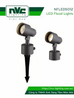 NFLED5012 - Đèn LED cắm cỏ 6.5W-9W IP65 chip CREE, góc chiếu 24°, CRI > 80, thân nhôm đúc phủ sơn tĩnh điện chống ăn mòn, mắt LED chống chói, mặt kính chịu lực chịu nhiệt, cao 0.17m