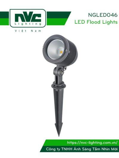 NGLED046 - Đèn LED cắm cỏ chip CREE 10W IP54, góc chiếu 45°, CRI > 80, thân nhôm đúc cao cấp phủ sơn tĩnh điện chống ăn mòn, vân chống chói, mặt kính cường lực chịu nhiệt, cao 0.26m