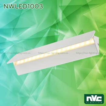 NWLED1003 3W 6W 12W 18W - Đèn LED gắn tường cho không gian nhà hàng, sảnh khách sạn, văn phòng, công suất đa dạng, thân nhôm đúc phủ sơn tĩnh điện trắng/đen, điều chỉnh góc chiếu