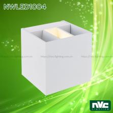 NWLED1004 4W - Đèn LED gắn tường cho nhà riêng, biệt thự, resort, nhà hàng, trung tâm triển lãm, thân nhôm đúc phủ sơn tĩnh điện trắng hoặc đen, có thể điều chỉnh góc chiếu