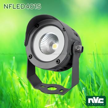 NFLED4015 7.5W, NFLED4016 18.5W - Đèn pha LED cắm cỏ chip COB CRI 80, IP65, góc chiếu 25°, thân hợp kim nhôm đúc phủ sơn tĩnh điện chống oxy hóa, kính cường lực 4mm chịu nhiệt
