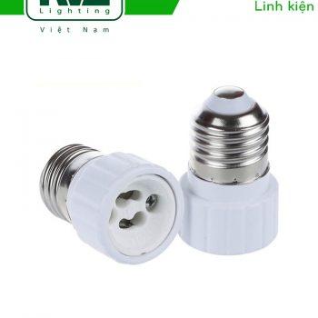 Adapter chuyển đui xoáy E27 --> GU10, chất liệu sứ tản nhiệt cách điện
