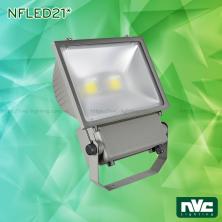 NFLED211 80W 100W 120W, NFLED212 160W 200W - Đèn pha LED ngoài trời COB IP65, thân hợp kim nhôm đúc nguyên khối phủ sơn tĩnh điện chống ăn mòn, mặt kính chịu lực chịu nhiệt mờ chống chói, góc chiếu 110°
