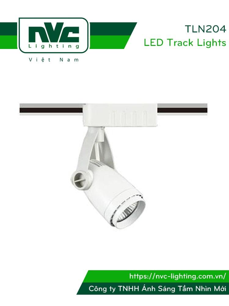 TLN204 lắp bóng rời MR16 halogen max 35W hoặc LED max 6W - Đèn rọi ray module, tương thích cả bóng nón