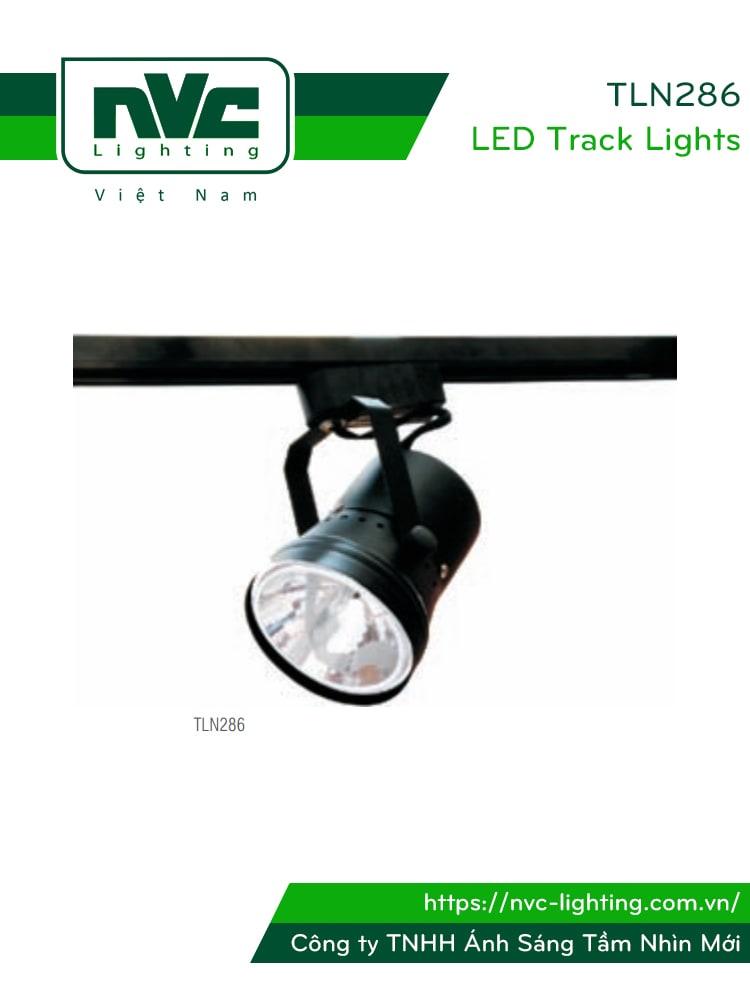 TLN286 SLN286 - Đèn rọi ray/Đèn rọi gắn tường module vỏ thép, tương thích cả bóng QR111 halogen và LED