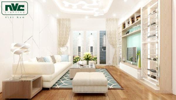 Ngôi nhà không có điểm nhấn khi sử dụng màu ánh sáng trắng toàn bộ