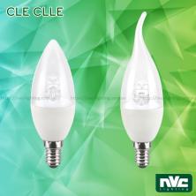 CLE CLLE 3W 4W 5W - Bóng nến LED đui E14 dùng cho đèn chùm, góc chiếu 270°, tản nhiệt nhôm đúc trong thân bóng
