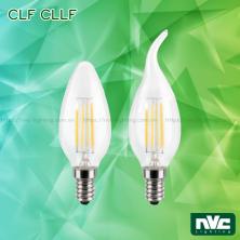 CLF CLLF 3.5W - Bóng nến LED dây tóc đui E14, góc chiếu 360° giảm thiểu tối đa hao tổn ánh sáng