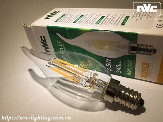 Bóng đèn LED nến CLLF 3.5W NVC Lighting