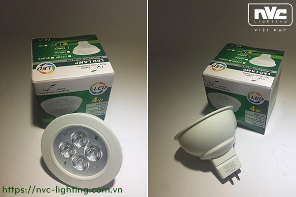 MR16I - Bóng nón LED chân cắm G5.3 220V vỏ polycarbonate, tản nhiệt nhôm đúc trong thân bóng
