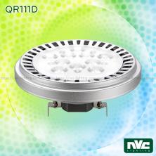 QR111D 15W, QR111D DIM 12W - Bóng đèn LED AR111 thân nhôm đúc nguyên khối phủ sơn tĩnh điện chống ăn mòn, mắt vân chống chói