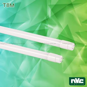 T8M 9W 18W 22W - Bóng đèn tuýp LED T8 ống thẳng chụp nhựa cao cấp chống dập vỡ, chip SMD2835, Ra 80, PF 0.95, điện áp sử dụng 110V-240V, tương thích IP65 với phụ kiện đi kèm