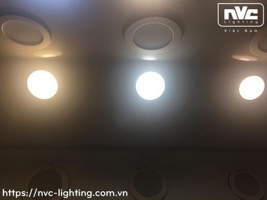 NLED9425 6W, NLED943 8W, NLED9435 10W, NLED944 14W - Đèn LED downlight âm trần mặt cầu, dạng giật cấp, kính mờ chống chói, tản nhiệt nhôm đúc cao cấp, chấn lưu rời