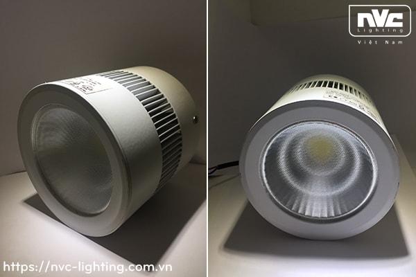 NLEDM9104 NLEDM9105 NLEDM9106 - Đèn LED downlight lắp nổi COB, thân nhôm đúc, tản nhiệt nhôm dạng cánh quạt, vân kính mờ chống chói