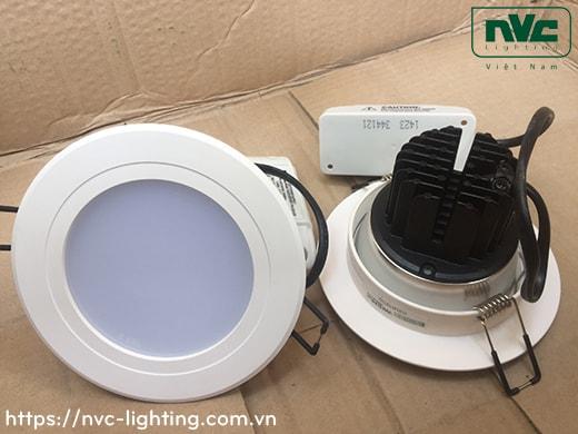 NLED9225N NLED923N NLED9235N NLED924N - Đèn downlight LED âm trần mặt phẳng kính mờ chống chói, nhôm anodized, tản nhiệt bằng hợp kim nhôm đúc cao cấp, chấn lưu rời