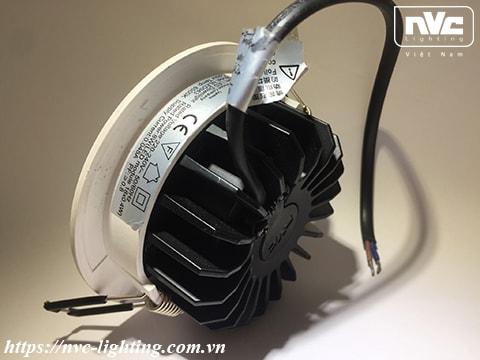 NLED9425 NLED943 NLED9435 NLED944 - Đèn LED downlight âm trần mặt cầu dạng giật cấp, kính mờ chống chói, tản nhiệt bằng hợp kim nhôm đúc cao cấp, chấn lưu rời