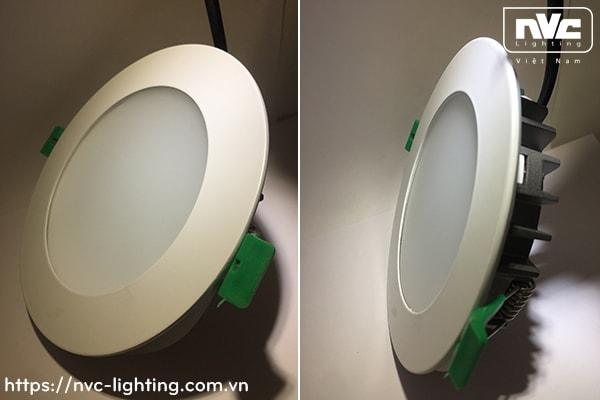 NLED9403 NLED9404 NLED9406 NLED9408 - Đèn LED downlight âm trần dạng panel mỏng, kính mờ chống chói, IP44 và IP65, vành và tản nhiệt bằng hợp kim nhôm đúc cao cấp phủ sơn tĩnh điện chống oxy hóa