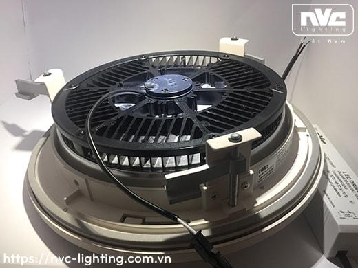 NLED9610 - Đèn LED downlight âm trần 50W kính mờ chống chói, thân và mặt đèn bằng hợp kim nhôm đúc cao cấp, vành phẳng IP20 và vành bắt vít IP65, chấn lưu rời