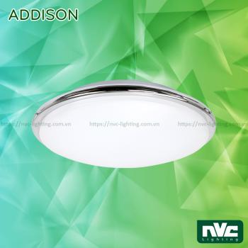 NAD22LED 22W - Đèn LED ốp trần nổi 2 trong 1 (đèn cảm ứng hoặc dùng pin 1.5h-3h khi có sự cố), mặt acrylic, vành chrome hoặc thép mạ