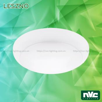 LESZNO 10W 17W 27W - Đèn LED ốp trần nổi cảm ứng vi sóng, lưu điện 3 giờ, góc chiếu 110°, IP 40
