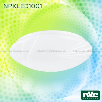 NPXLED1001 6W 12W 18W 24W - Đèn LED ốp trần nổi ban công, mặt nhựa dẻo vân sóng, độ xuyên sáng lên đến 90%