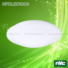 NPXLED1006 6W 12W 18W 24W - Đèn LED ốp trần nổi ban công, mặt nhựa dẻo, độ xuyên sáng lên đến 90%