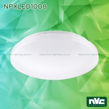 NPXLED1008 6W 12W 18W 24W - Đèn LED ốp trần nổi ban công, mặt nhựa dẻo, độ xuyên sáng lên đến 90%