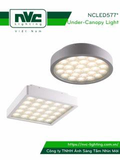 NCLED5771 18W & NCLED5772 19W - Đèn LED ốp trần nổi chống côn trùng, IP54, nhôm đúc nguyên khối, mặt tổ ong, chip Cree