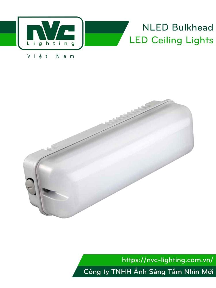 NLED Bulkhead - Đèn LED ốp trần chống cháy nổ, IP54, thân nhôm đúc, mặt nhựa polycarbonate.