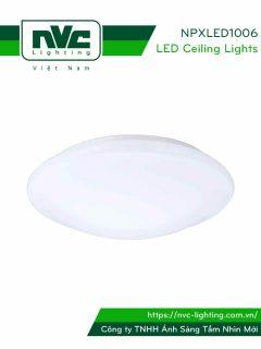 NPXLED1006 - Đèn LED ốp trần nổi ban công, mặt nhựa dẻo, độ xuyên sáng lên đến 90%