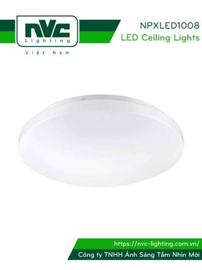 NPXLED1008 - Đèn LED ốp trần nổi ban công, mặt nhựa dẻo, độ xuyên sáng lên đến 90%
