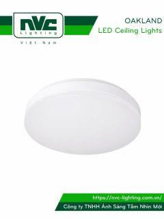 OAKLAND - Đèn LED ốp trần cảm biến hồng ngoại cao cấp, mặt đèn nhựa dẻo xuyên sáng 90%