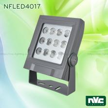 NFLED4017 25W - Đèn pha LED ngoài trời COB IP65 mặt vuông, thân nhôm đúc nguyên khối phủ sơn tĩnh điện chống ăn mòn, mặt kính chịu lực chịu nhiệt 7mm, mắt vân chống chói, chip Osram, góc chiếu 20° 30° 45°