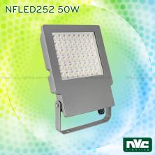 NFDLED252 40W 50W 80W 100W - Đèn pha LED ngoài trời IP65 (có tùy chọn tích hợp cảm biến vi sóng tự động tắt bật), thân nhôm đúc nguyên khối phủ sơn tĩnh điện chống ăn mòn, PC lens giúp giảm thiểu độ chói, góc chiếu 45° 60°