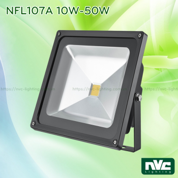 NFL107A 200W 150W 100W - Đèn pha LED ngoài trời COB IP65, thân nhôm đúc nguyên khối phủ sơn tĩnh điện chống ăn mòn, mặt kính chịu lực chịu nhiệt chống chói, góc chiếu 120°