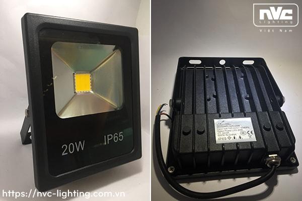 NFL107C - Đèn pha LED ngoài trời COB IP65, thân nhôm đúc nguyên khối phủ sơn tĩnh điện chống ăn mòn, mặt kính chịu lực chống chói & chịu được nhiệt độ lạnh/nóng, góc chiếu 120°