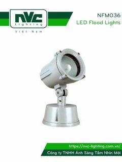 NF036 NFM036 - Đèn pha metal ngoài trời 70W IP65, thân hợp kim nhôm đúc nguyên khối phủ sơn tĩnh điện chống ăn mòn, chóa nhôm anodized tinh khiết phản quang ánh sáng ổn định & phản xạ cao