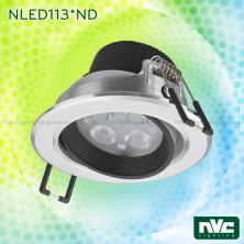 NLED1134ND 4W, NLED1136ND 6W, NLED1138ND 8W - Đèn rọi LED âm trần SMD nguyên khối, mặt lõm, vành xoay 60°, vân tán quang, chấn lưu liền