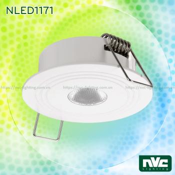 NLED1171 2W - Đèn rọi LED âm trần đa ứng dụng (chiếu sáng khẩn cấp, chiếu tủ rượu,...), thân nhôm đúc, mắt vân kim cương chống chói