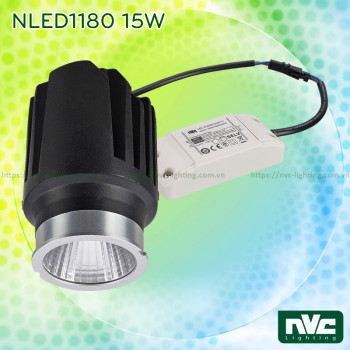 NLED1180 7W 10W 13W 15W - Đèn rọi âm trần LED COB MR16 module thay thế linh hoạt, tản nhiệt nhôm đúc, chấn lưu Osram rời