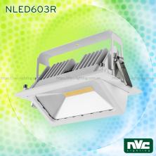 NLED603R 50W (COB), NLED604R 25W 35W (SMD) - Đèn spotlight là mờ chống chói, thiết kế lắp nổi, hình chữ nhật, góc xoay 45°