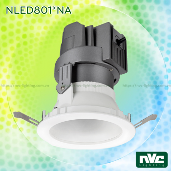 NLED801*A NLED801*NA - Đèn spotlight âm trần LED COB nguyên khối CAO CẤP, chóa mờ chống chói, tản nhiệt nhôm đúc, tương thích DALI