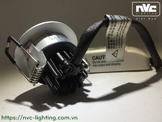 NLED113 NLED113D - Đèn âm trần LED SMD 4W chiếu điểm, mắt kim cương chống chói, vành và tản nhiệt đúc nguyên khối