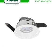NLED8033N NLED8034N - Đèn rọi âm trần SMD mặt lõm sâu, chiếu thẳng, tản nhiệt bằng nhôm đúc, tai đèn dạng lá thép đàn hồi chống gỉ
